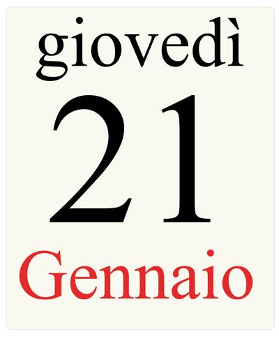 21gennaio