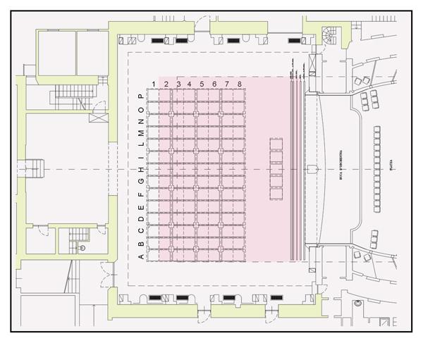 Pianta del Teatro Rossini