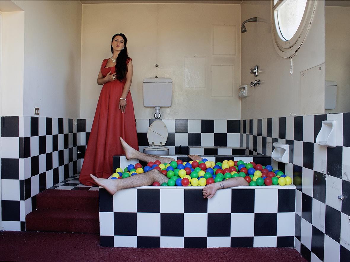 Valentina Sammaciccia-Dalla serie poliedrica. Senza titolo-stampa su tela-150X100-2015